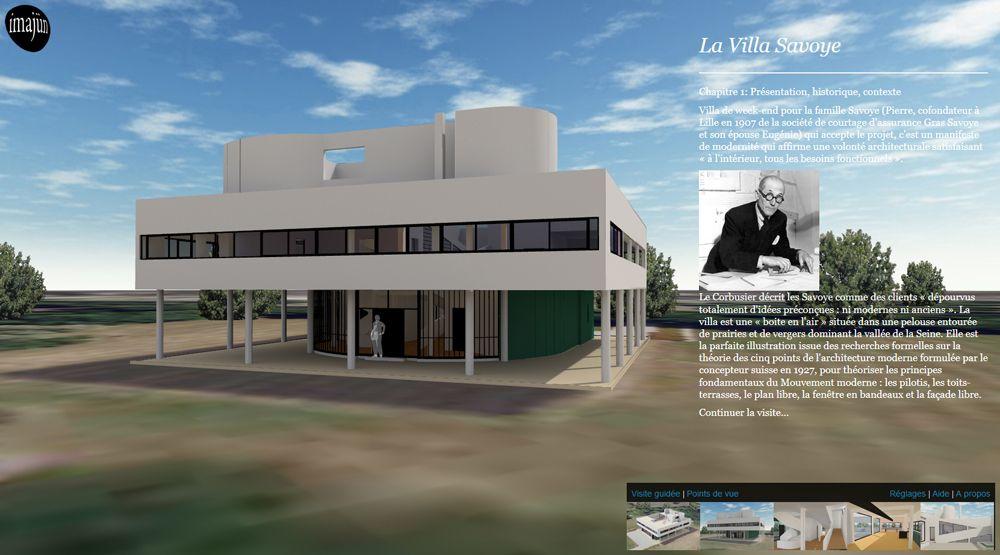 Visite virtuelle en 3D de la Villa Savoye construite par Le