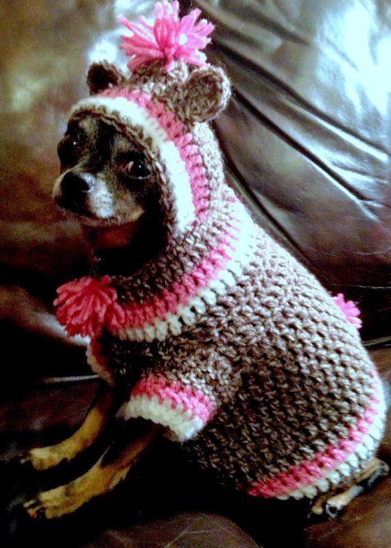 Sock Monkey Dog Hoodie Crochet Love Pinterest Dog Hoodie
