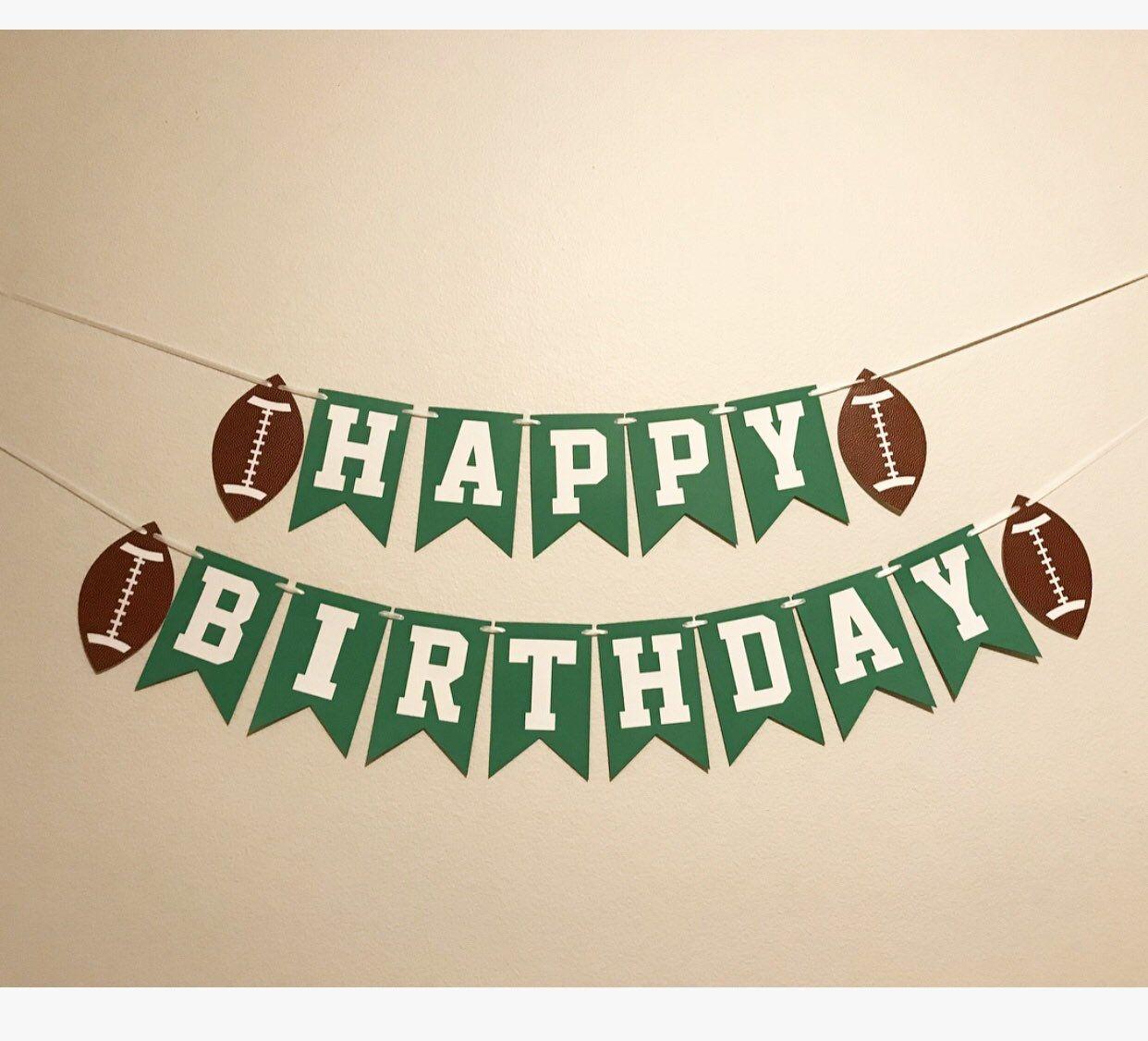 Football Theme Boy Birthday Sports Birthday Banner Sports Party Decor Football Birthday Football Banner Football Happy Birthday Banner