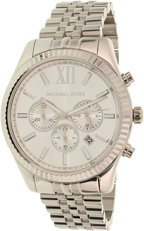 10002bd1c64e Michael Kors Men S Lexington Mk8405 Silver Stainless-Steel Quartz Watch