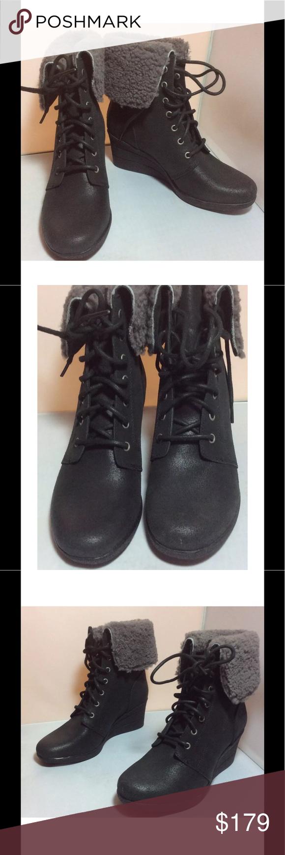 78343b18f01d NIB UGG Zea Waterproof Shearling Wedge Boot Size 7 NIB UGG Australia Women s  Zea Waterproof Genuine