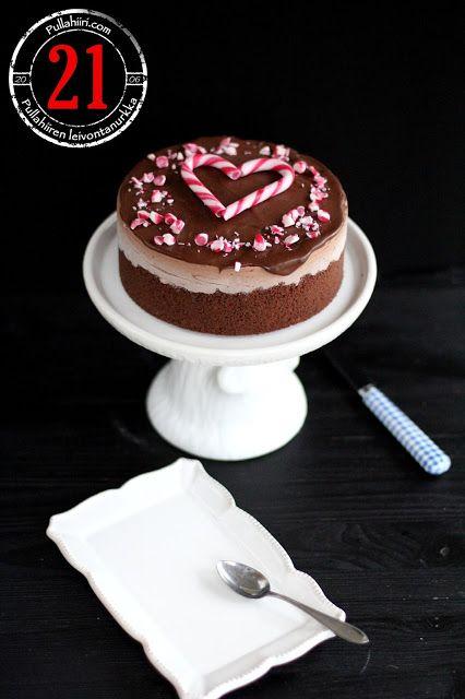 Pullahiiren leivontanurkka: Joulukalenteri - Luukku 21: Jäädytetty suklainen tuorejuustokakku