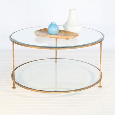 Round 2 Tier Metal Coffee Table Round Glass Coffee Table Round Coffee Table Iron Coffee Table