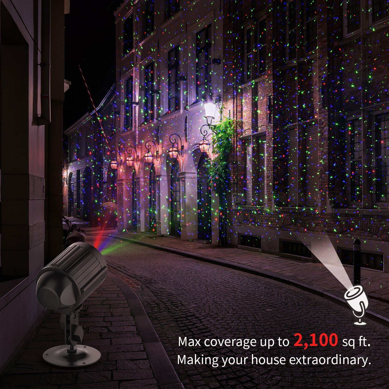Halloween Projector Christmas Laser Light Red Green Blue 3