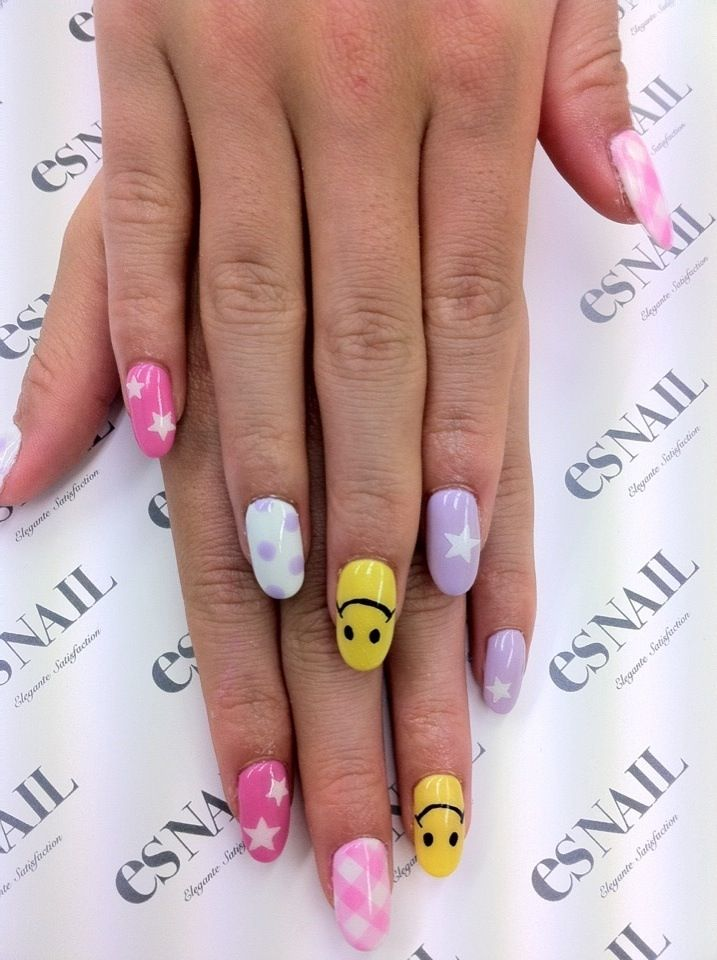 Pin by shelley gouveia on nails pinterest makeup stars polka dots and happy face nail art prinsesfo Image collections