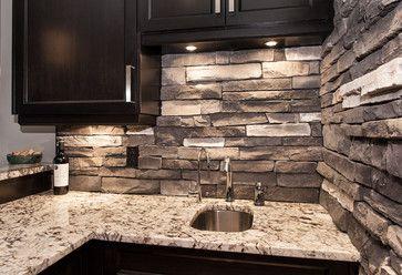 Pin By Joan Austin Mauldin On For The Home Stone Backsplash Kitchen Kitchen Backsplash Designs Contemporary Style Kitchen