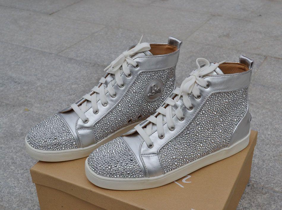christian louboutin shoes, silver