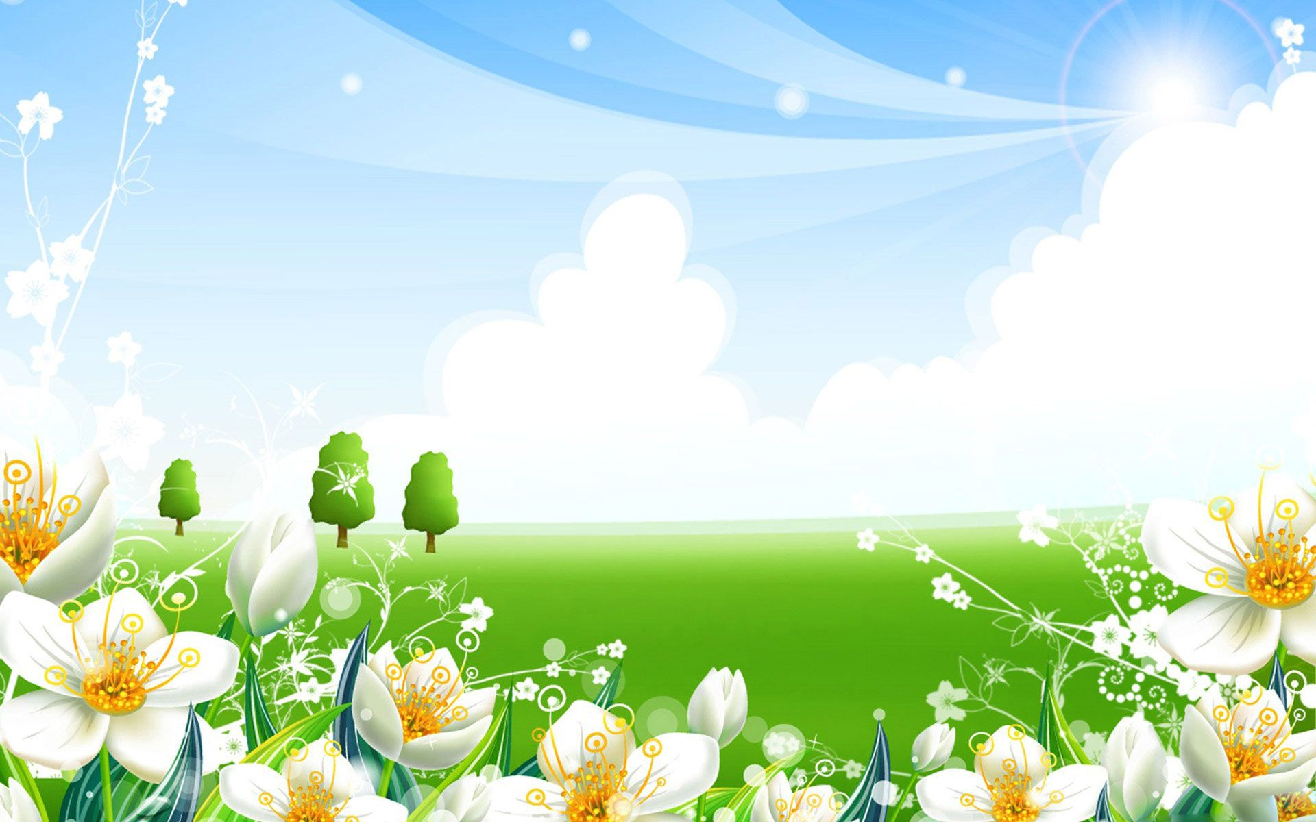 Bon Summer Background · Widescreen WallpaperWallpaper ...