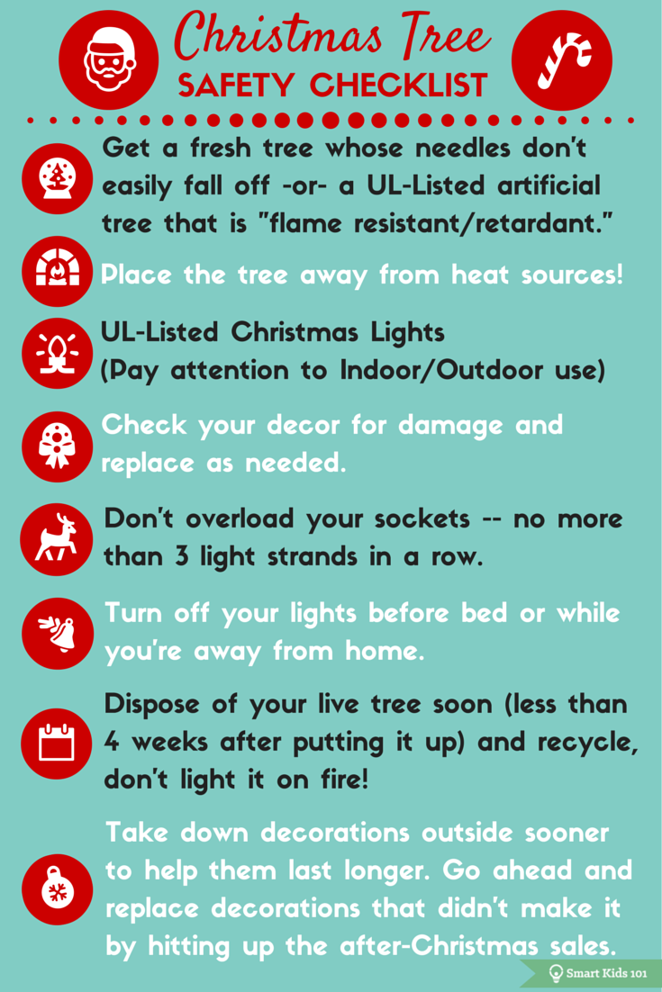 Christmas Tree Safety Checklist Safety checklist, Fire