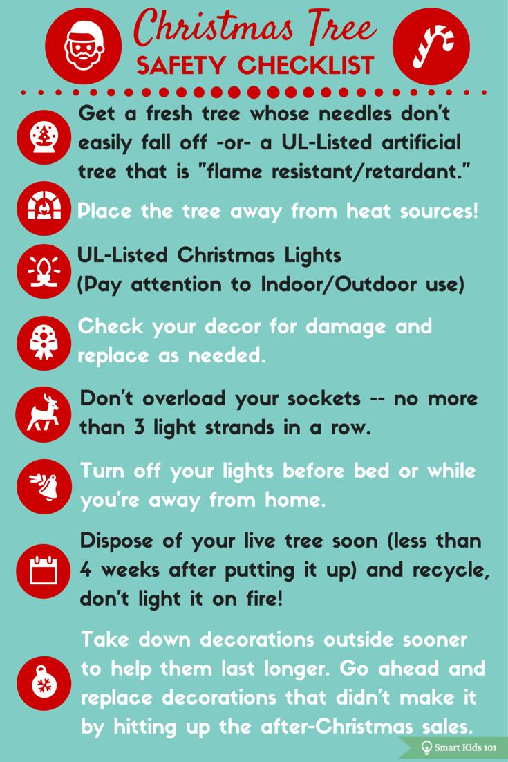 Christmas Tree Safety Checklist Safety checklist, Fire