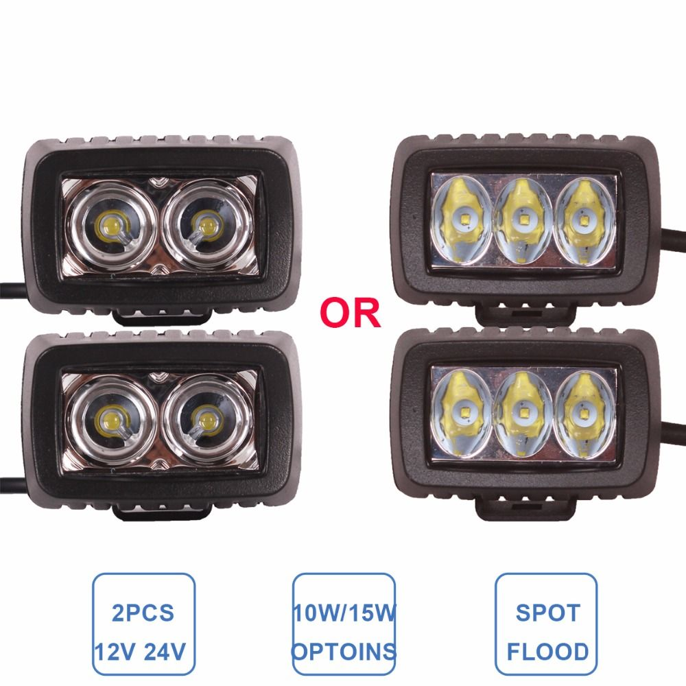 Offroad 10w 15w Led Work Light Driving Fog Headlight 12v 24v Atv Motorcycle Suv Bicycle Boat 4x4 4wd Truck Car Auto Camper L Led Work Light Work Lights Bicycle