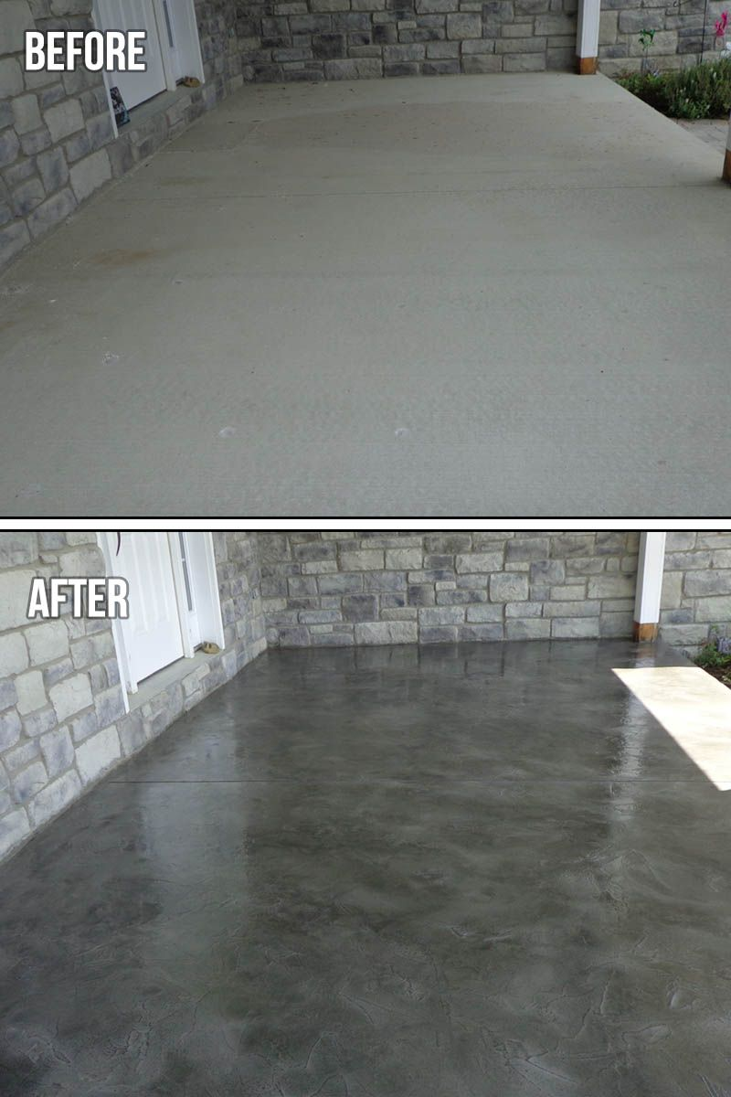 Tuscan Slate Textured Concrete Concrete Patio Makeover Concrete