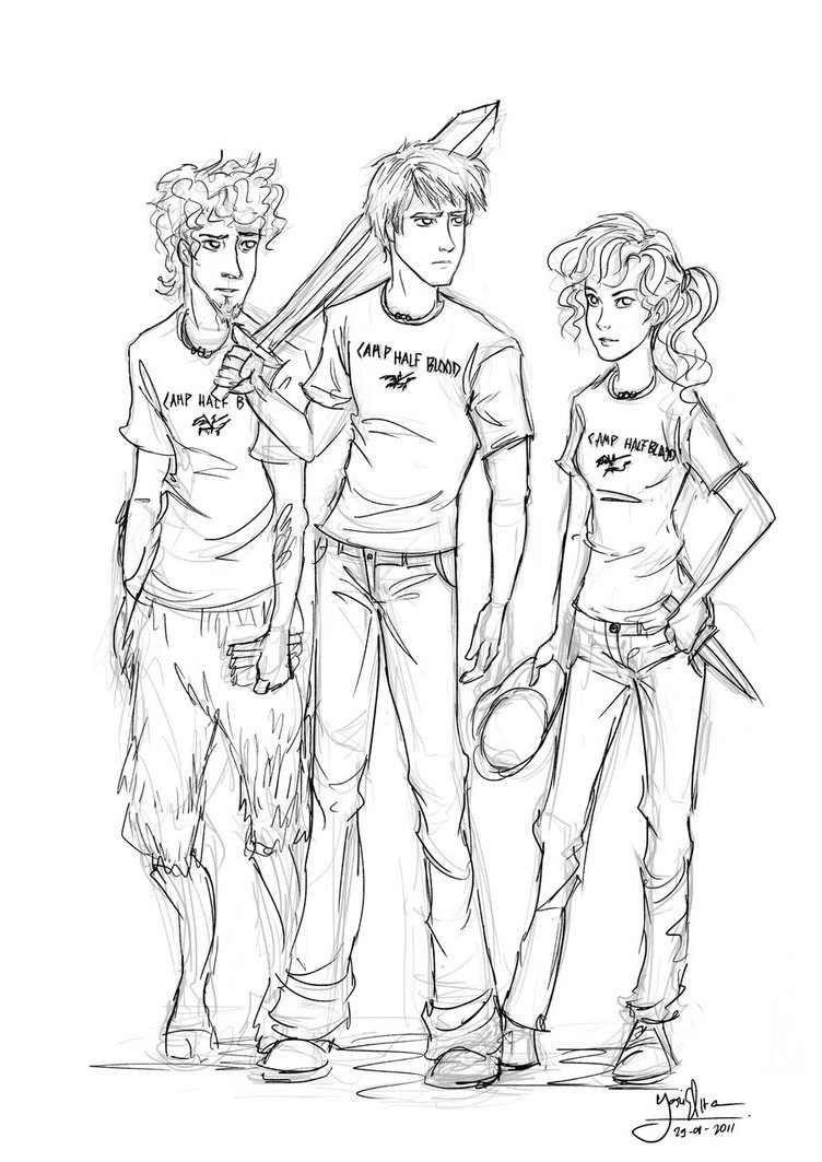 Grover Underwood, Percy Jackson, Annabeth Chase. The