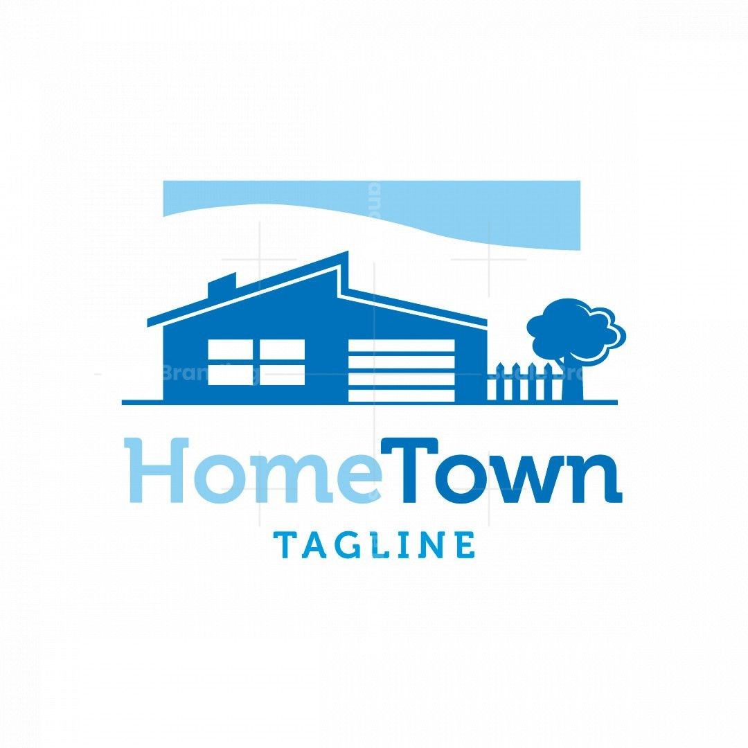 Home Town Logo In 2021 Realty Logo Building Development Real Estate Agency