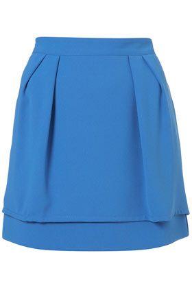 Layered Peplum Skirt