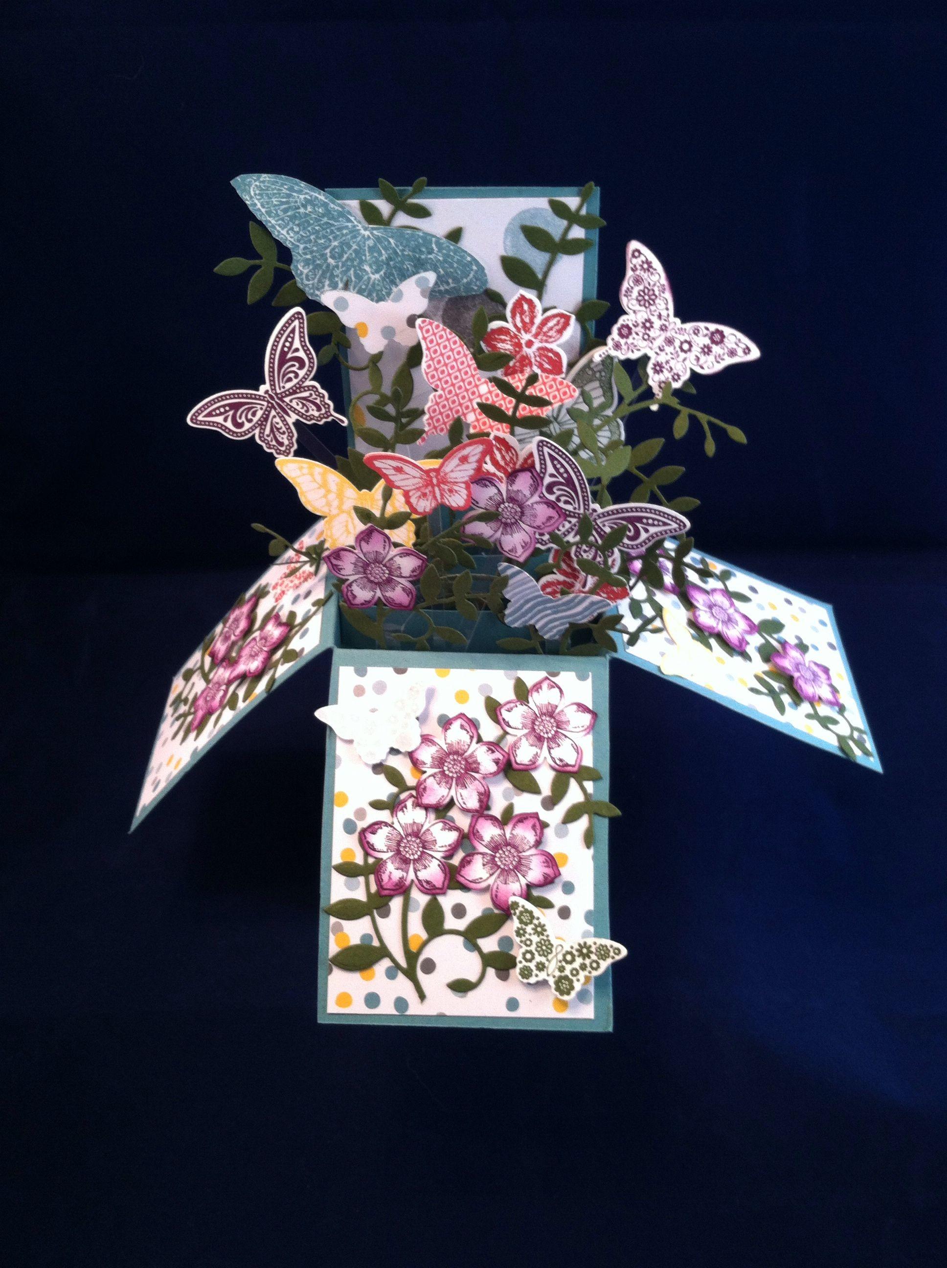 Butterfly box card butterfly box card box cards