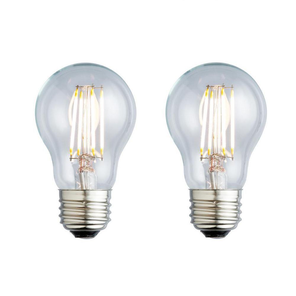 Archipelago 40w Equivalent Soft White A19 Clear Lens Nostalgic Led Light Bulb 2 Pack Led Light Bulb Light Bulb Led Lights