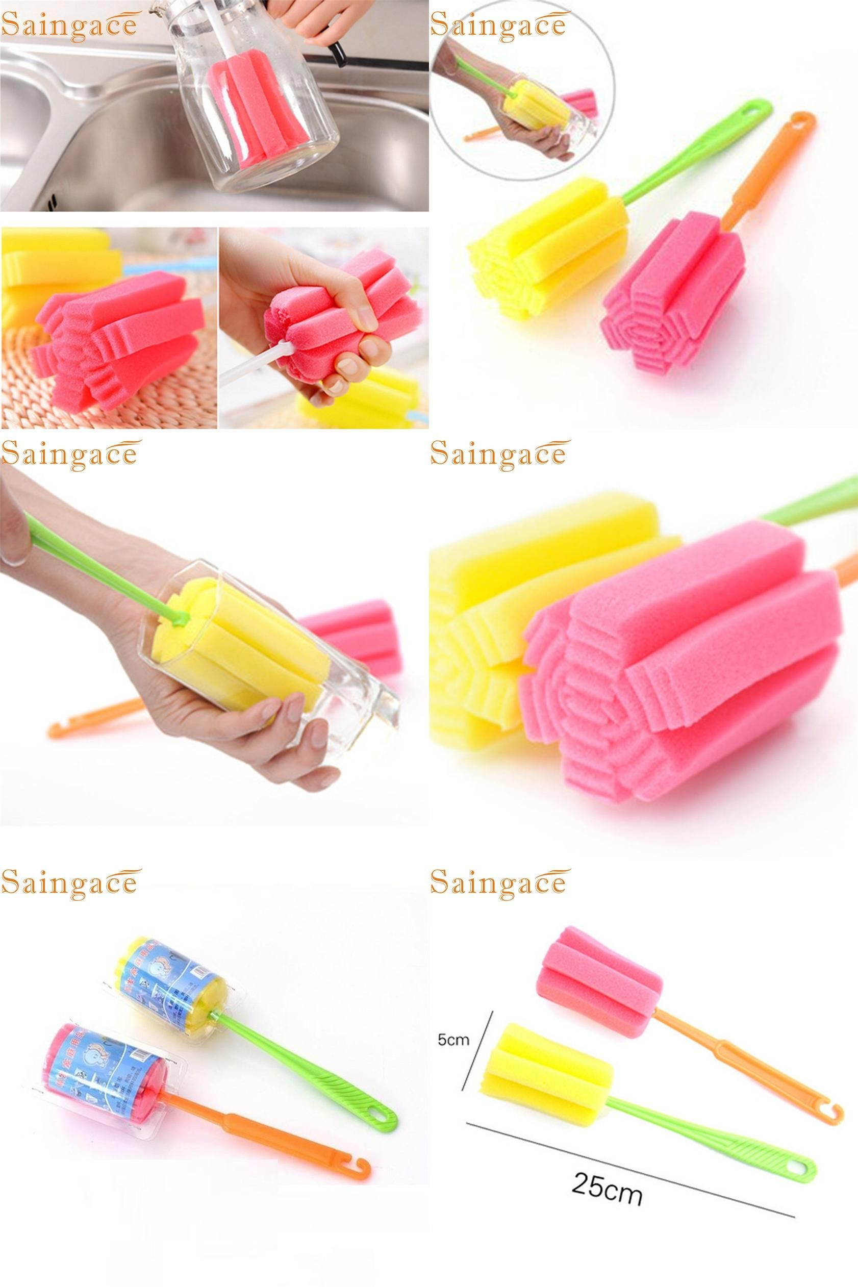 Visit to buy zero pc kitchen cleaning tool sponge brush for