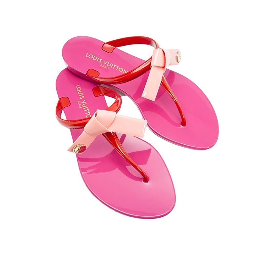 1ddccf660c08e Louis Vuitton Flat Open Toe Rubber Sole Casual Style Plain Flip Flops 4