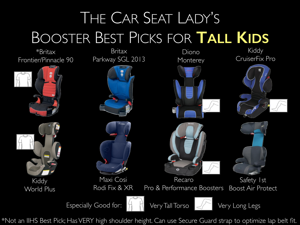The Car Seat Lady's Booster Best Picks for Tall Kids ...