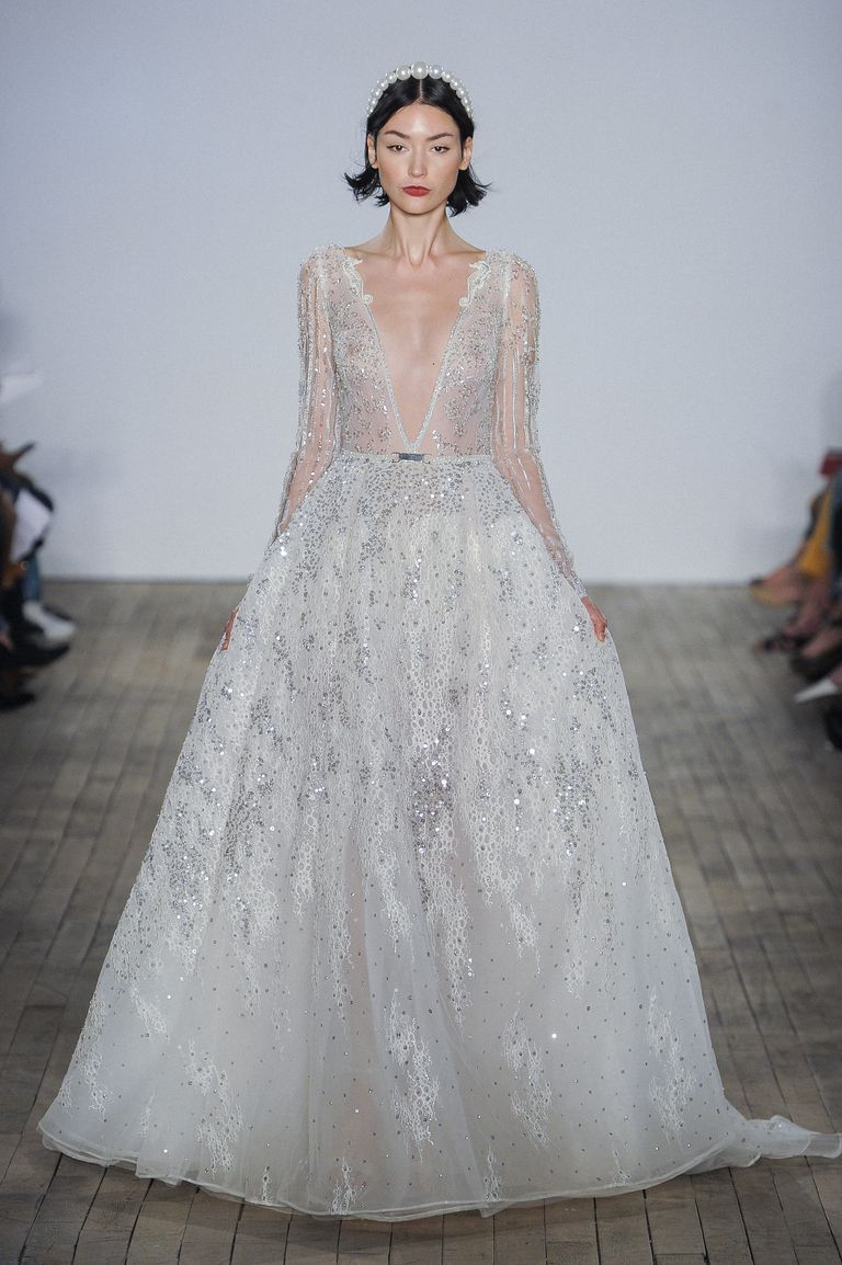 ... best long sleeve wedding dresses to shop for Spring and Fall 2019  weddings. https   www.harpersbazaar.com wedding bridal-fashion  45944ff2b