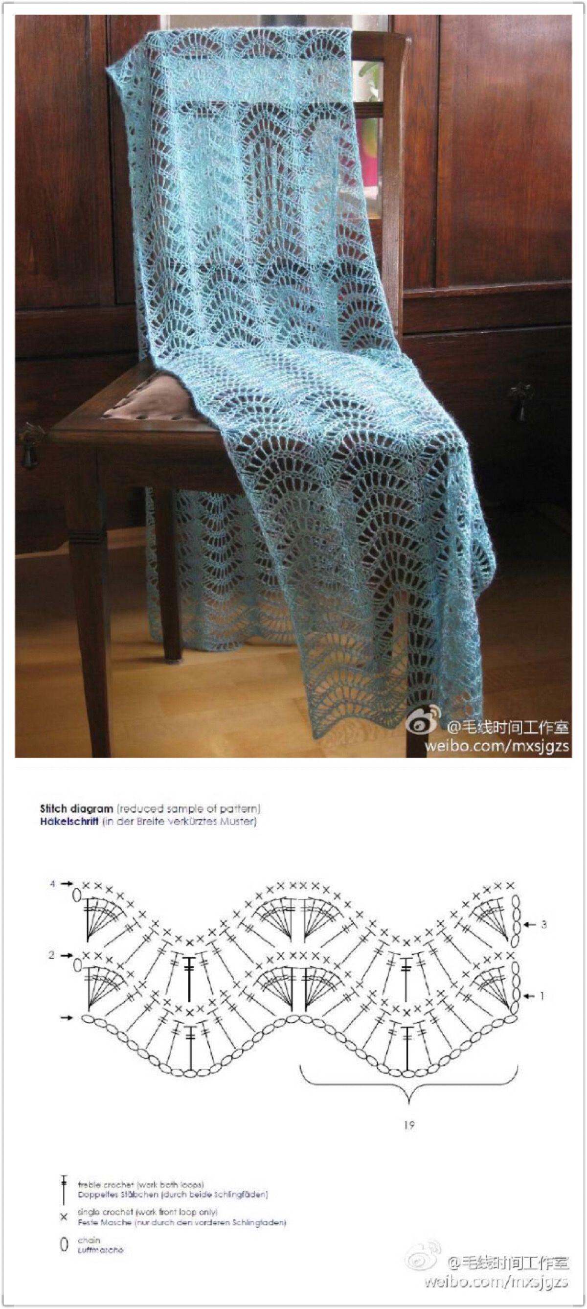 Pin de Susana Dzuiba en crochet | Pinterest | Chal, Ganchillo y Espejo