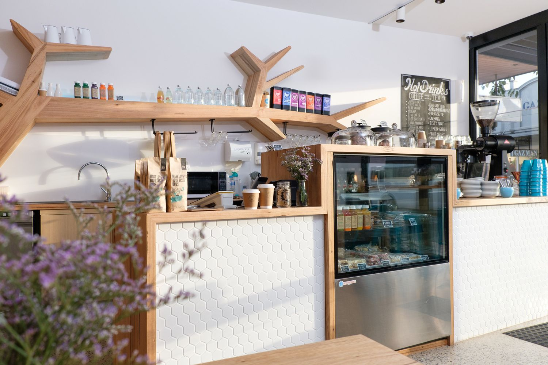 Custom Timber Cafe Fitout - Bombora Custom Furniture  Timber