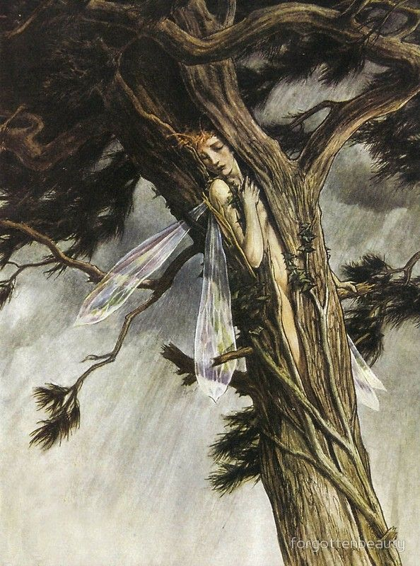Ariel in the Cloven Pine - The Tempest, Paul Vincent Woodroffe