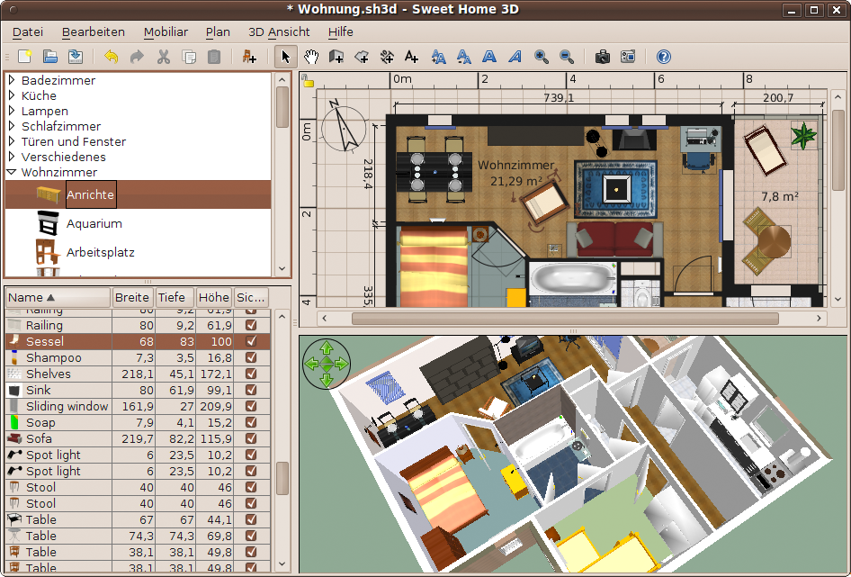 Sweet Home 3D: Free home designing software that lets you measure ...