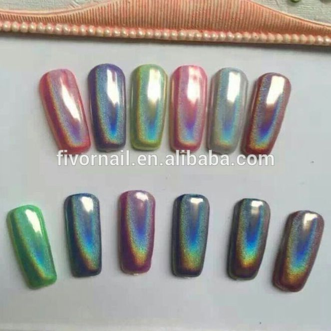 Rainbow Pearl Holographic Pigment Nail Powder