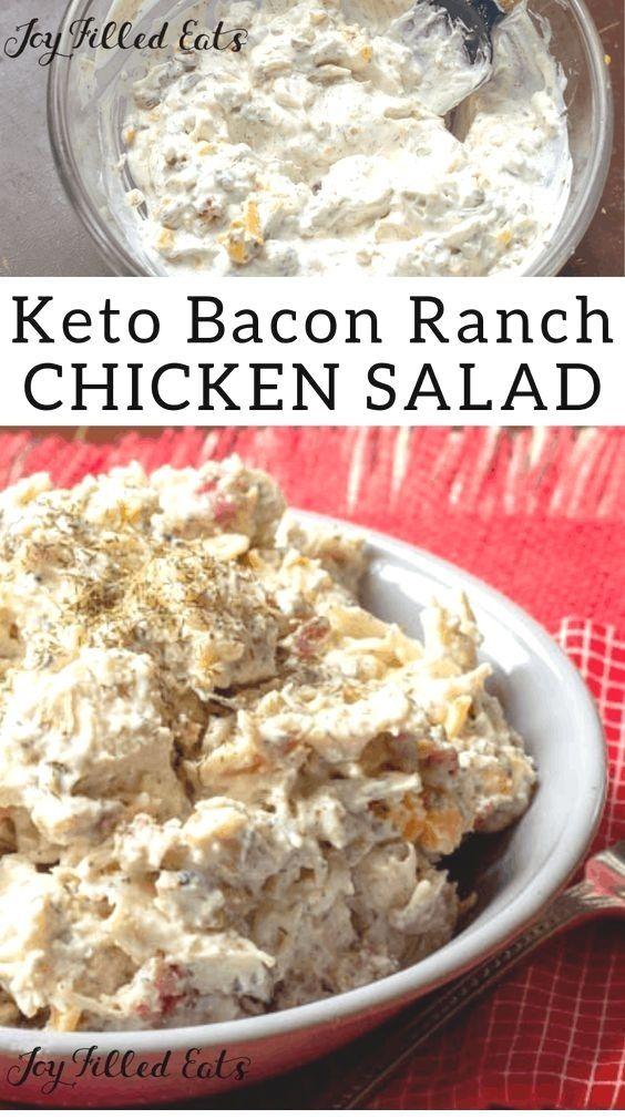 Bacon Ranch Einfacher Hühnersalat,