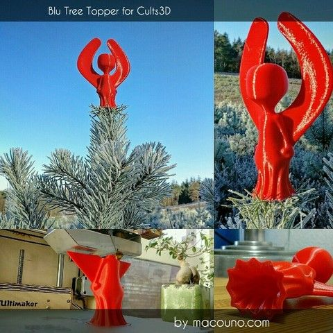 3D printing Blu Tree Topper for Cults3D, macouno