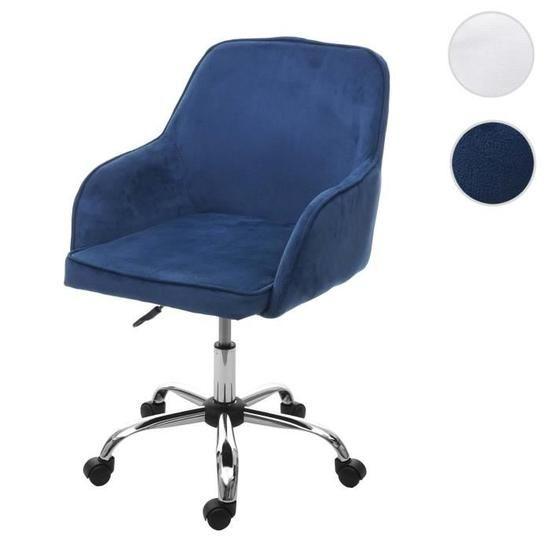 Chaise De Bureau Hwc F82 Fauteuil Directorial Pivotant Design Retro Velours Bleu Achat Vente En 2020 Fauteuil De Bureau Confortable Chaise Bureau Design Retro