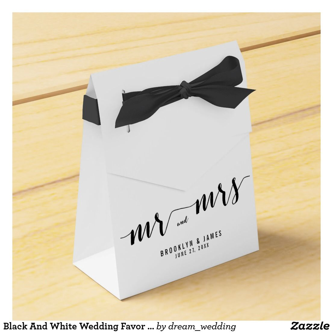 Black And White Wedding Favor Boxes Tent | Wedding Favors ...