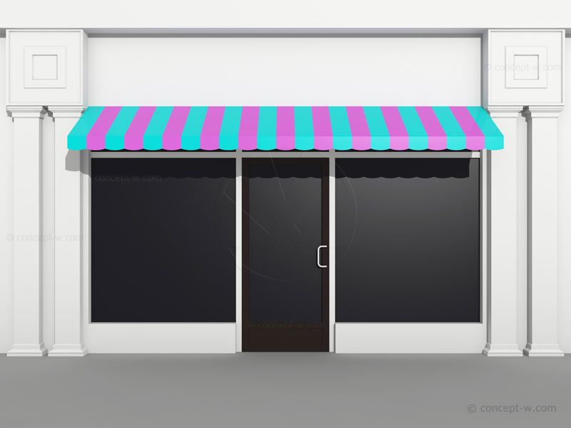 Shop front template Exam Research