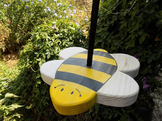 Disc Swing Heirloom Tree Swing Bee Wood Toy Wooden Swing Garden Swing Made To Order Tree Swing