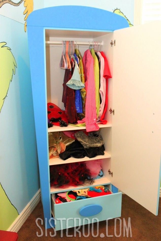 IKEA Wardrobe For Dress Up Clothes (I Loooooovvveee This Idea!)