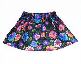Toddler Skirt, Floral Skirt, Baby Skirt, Toddler Girl Clothing, Polish folk motive