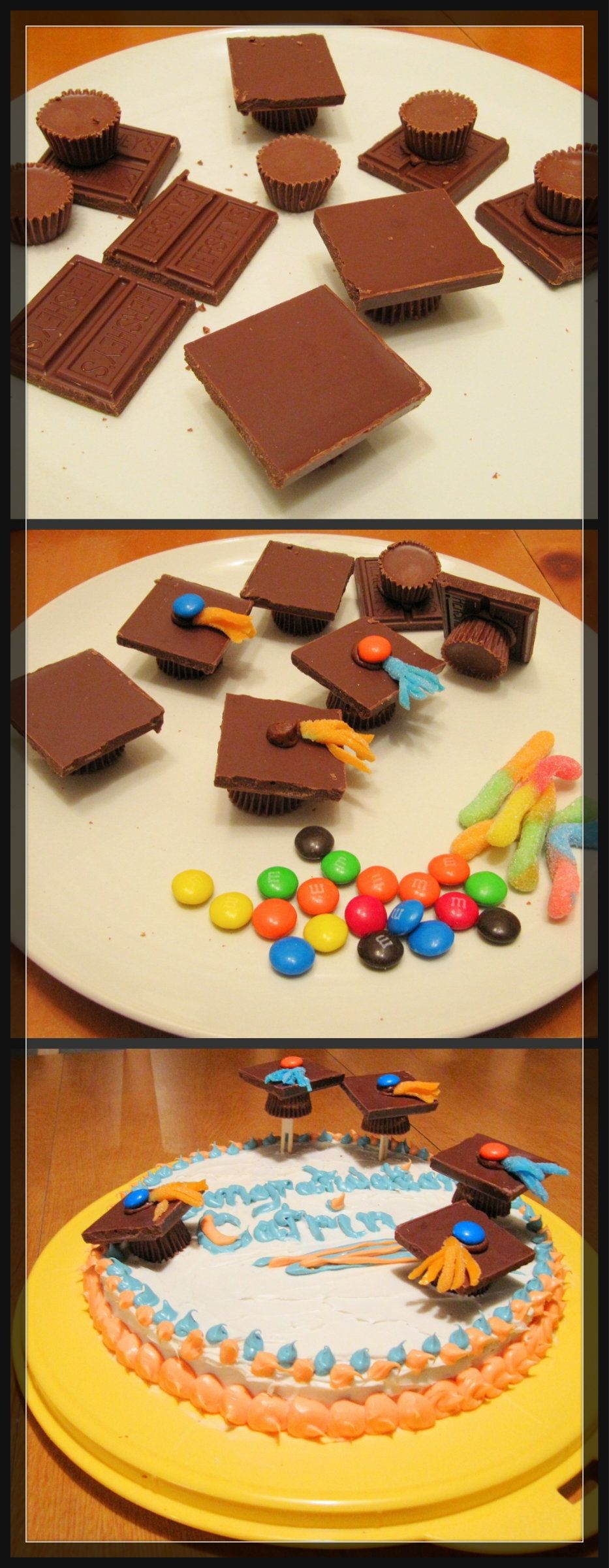how to make graduation caps out of candy