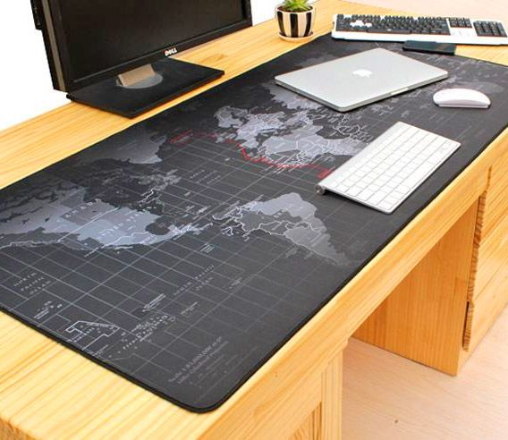 Giant Black World Map Mouse Pad To Assist In World Domination Office Mouse Pad Mouse Pad Desk Pad