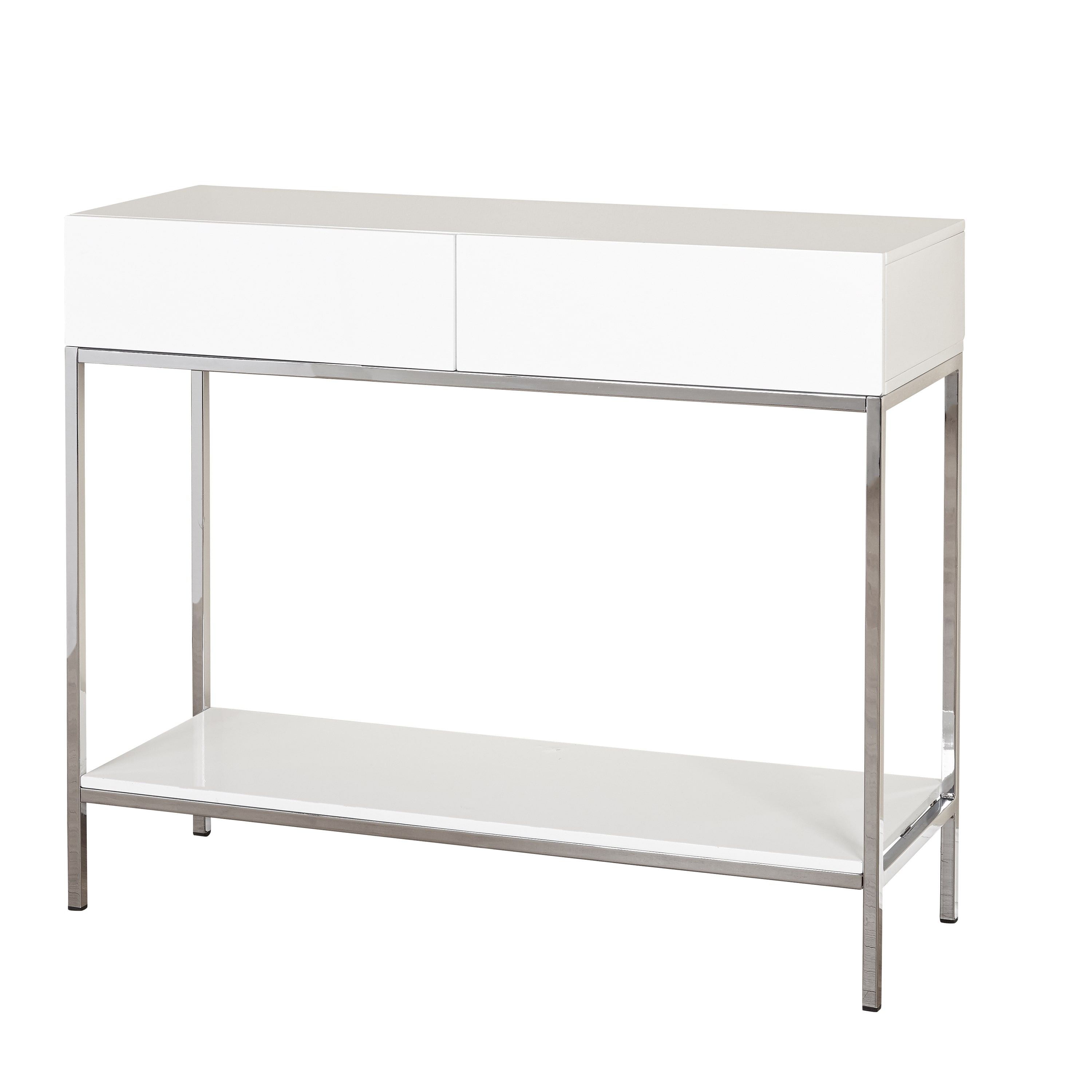 Simple living white wood and chrome metal high gloss console table simple living white wood and chrome metal high gloss console table high gloss console table geotapseo Gallery