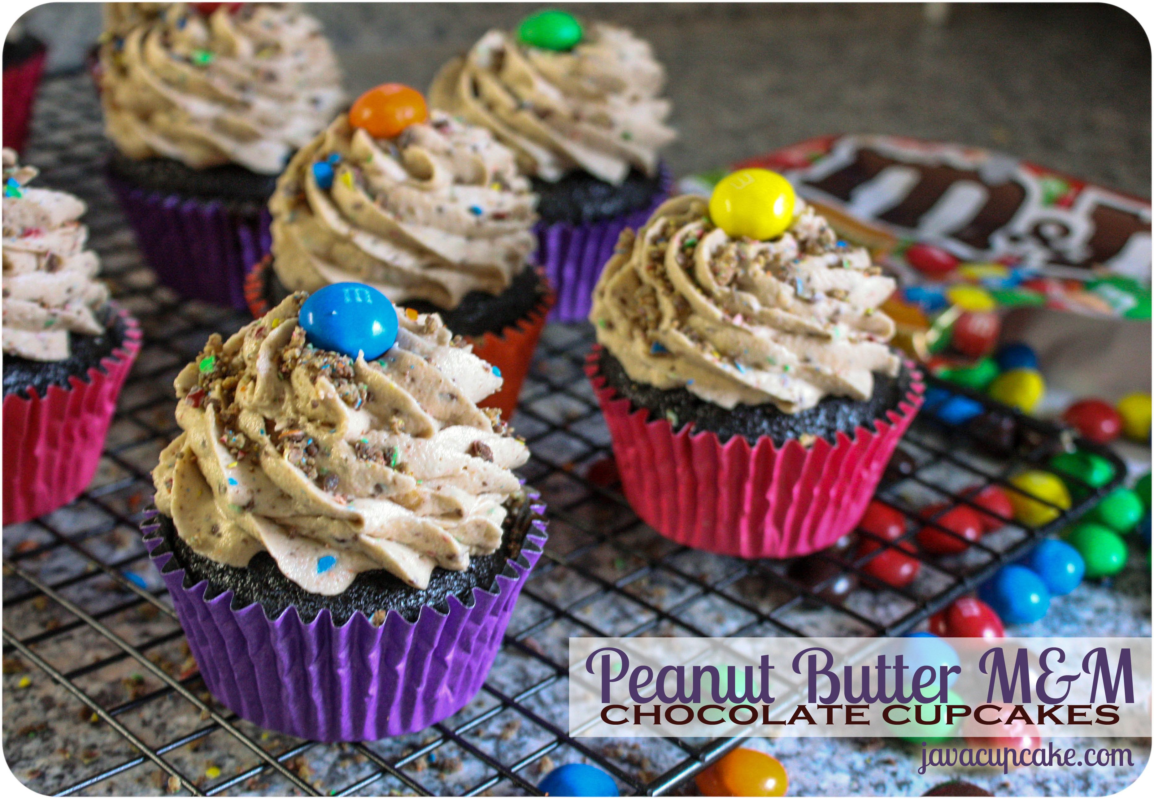 Peanut Butter M M Chocolate Cupcakes Recipe With Images