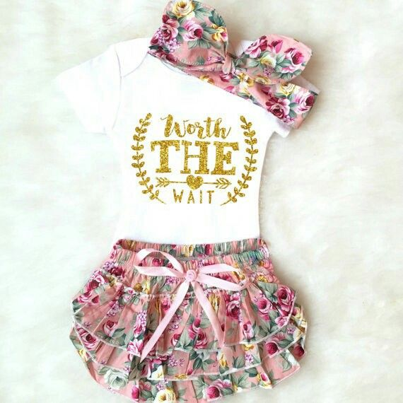 94386c2c08ec Baby Shower Gift Worth the Wait Outfit Baby Girl Coming Home Outfit Baby  Girl Going Home Outfit Newborn Girl Coming Home Outfit Summer 23