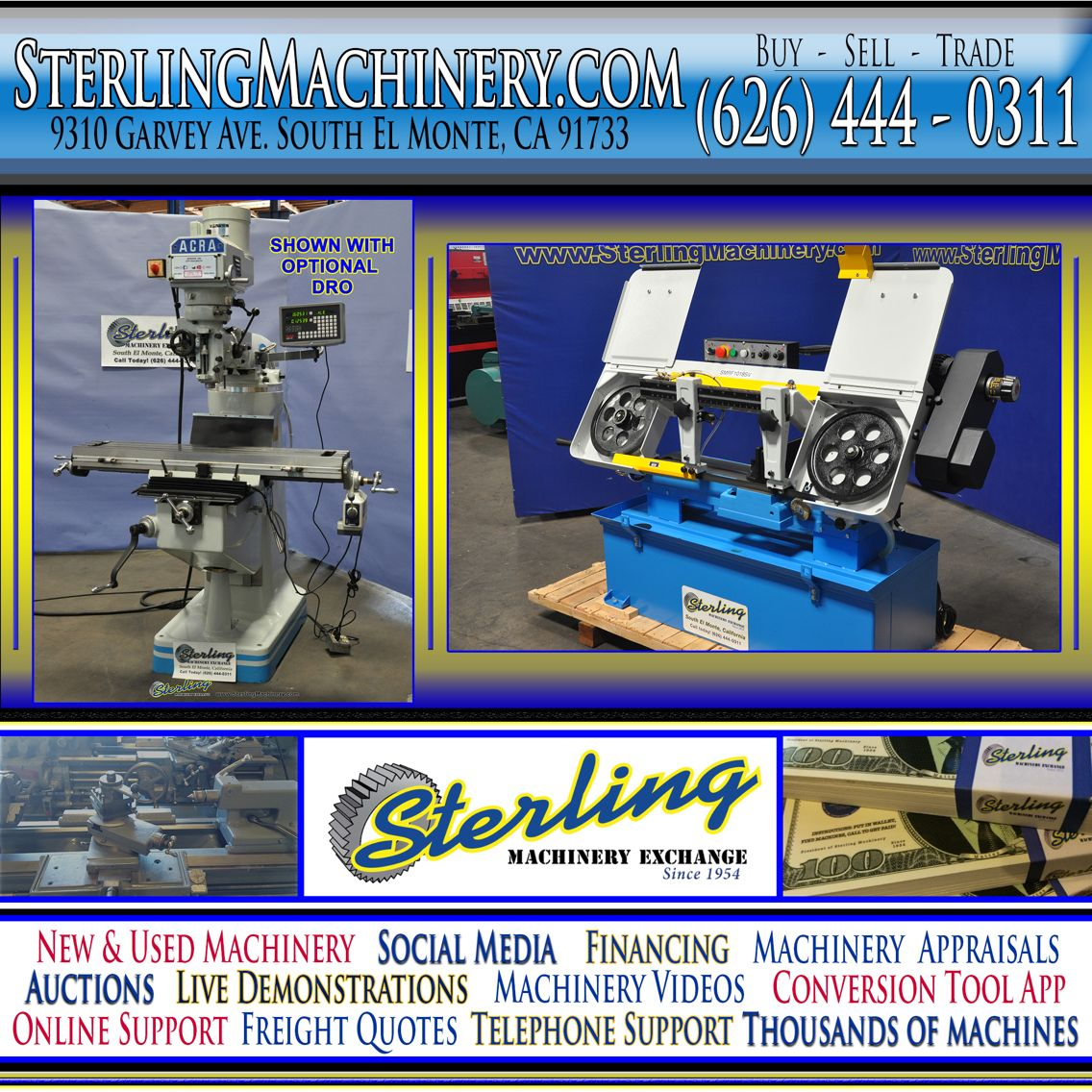 Buy. Sell. Trade. Industrial Metalworking Machinery