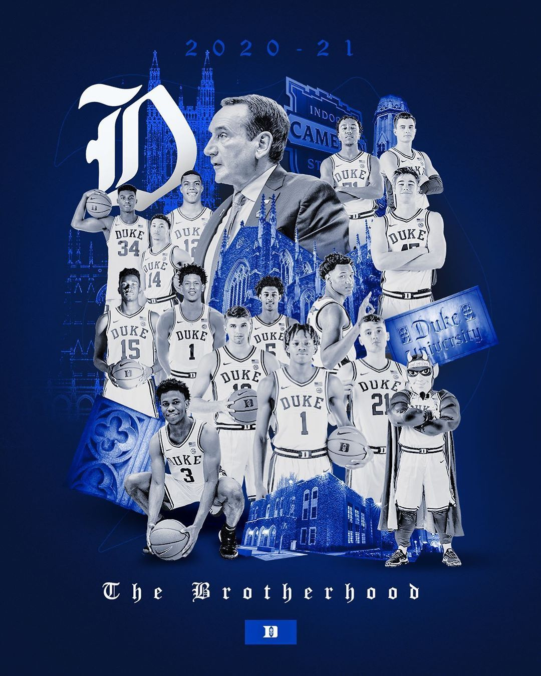 """Duke Men's Basketball on Instagram """"𝔗𝔥𝔢 𝔅𝔯𝔬𝔱𝔥𝔢𝔯𝔥𝔬𝔬𝔡 20/21"""