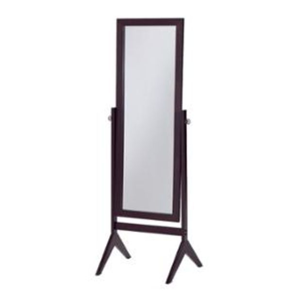 Walmart Cheval Espresso Finish Wooden Bedroom Floor Mirror With Images Floor Mirror Home Decor Mirrors Mirrored Bedroom Furniture
