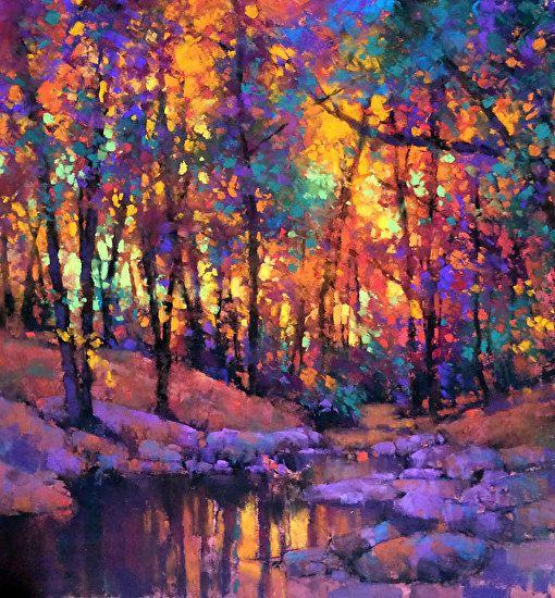 Inner Glow Landscape Artist Soft Pastel Art Landscape Drawings