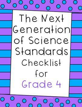 Next Generation of Science Standards Checklist Grade 4