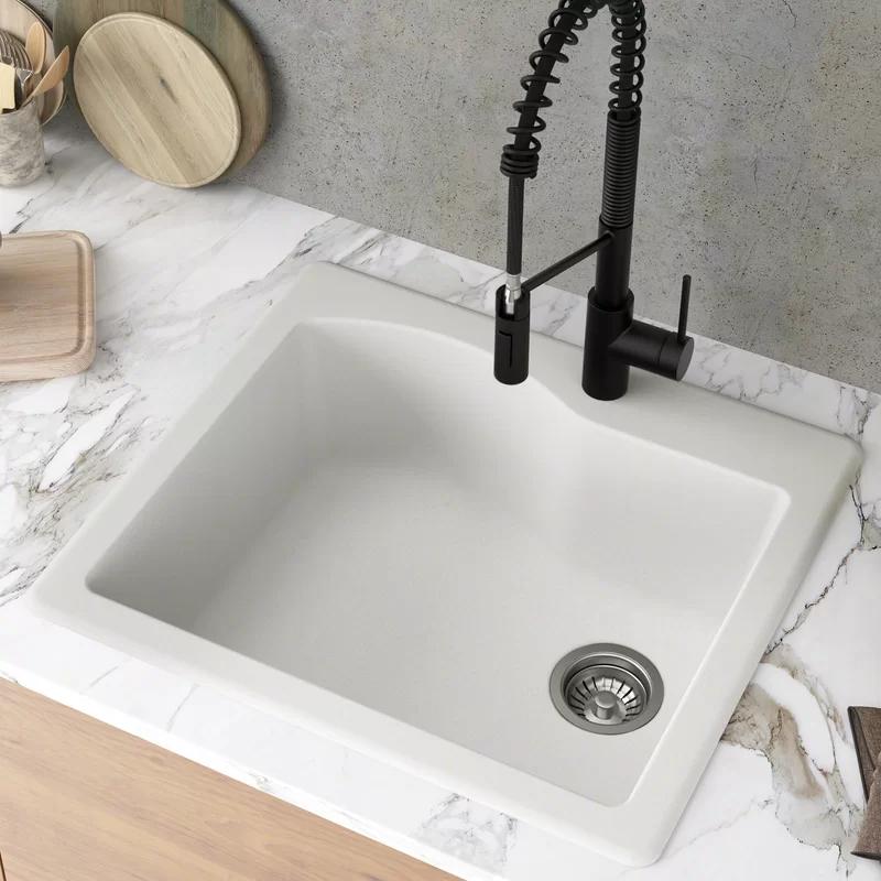 319 Wayfair Kraus Quarza 25 X 22 Dual Mount Kitchen Sink