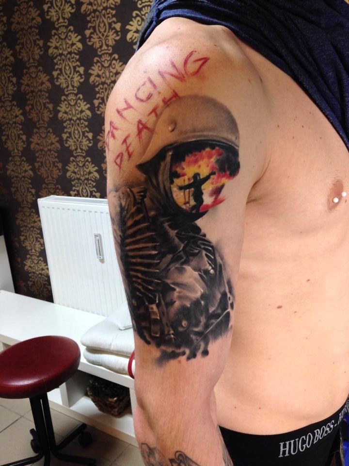 #tattoostudio #nadelwerk #soldier #blackandgrey #realistic ...